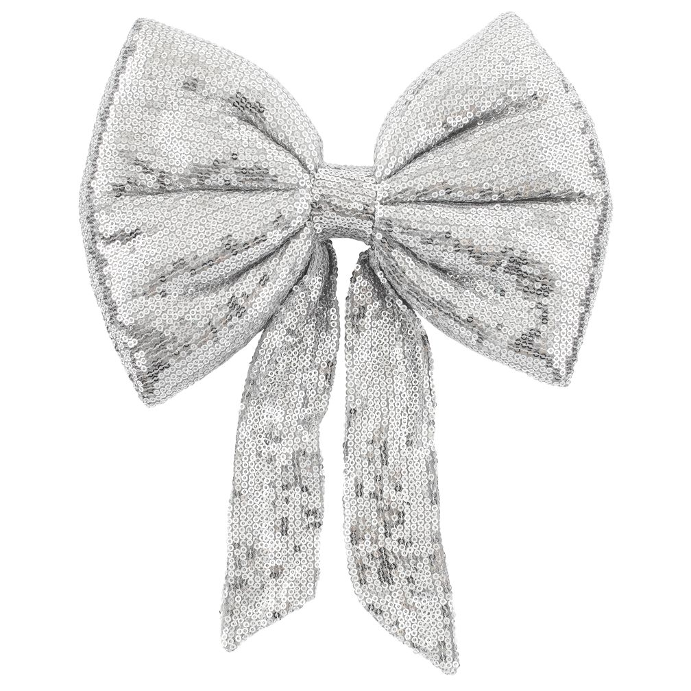Sequin Bow (Silver)