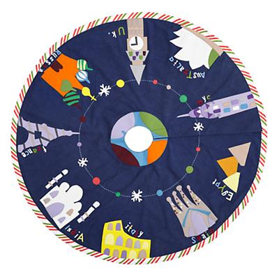 'Round the World Tree Skirt