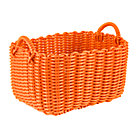 Orange Tubing Floor Bin