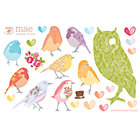 "Green And Your Birds Can Stick Decal Set16.5"" x 21.75"" Sheet"
