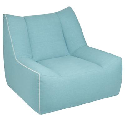 Open Arms Swivel Lounge (Turquoise)