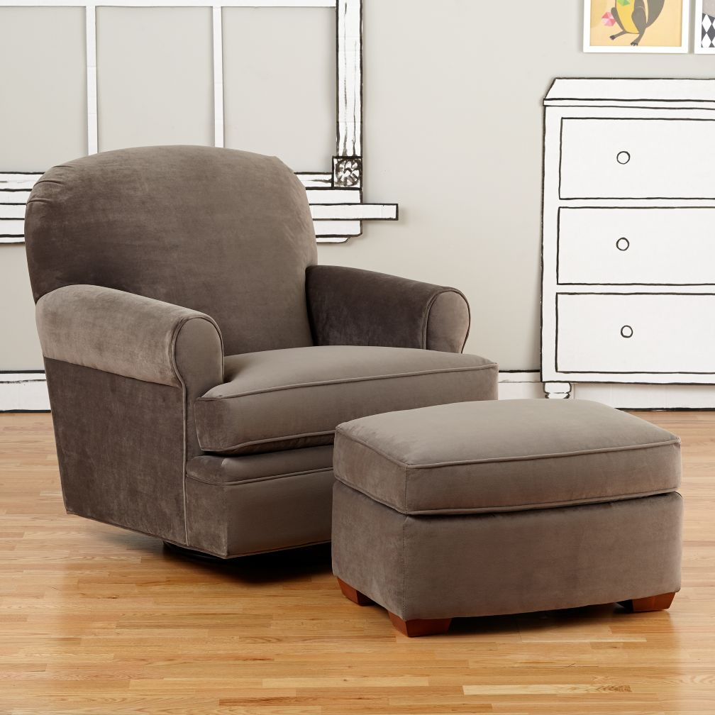 Dylan Swivel Glider &amp; Ottoman (View Otter)