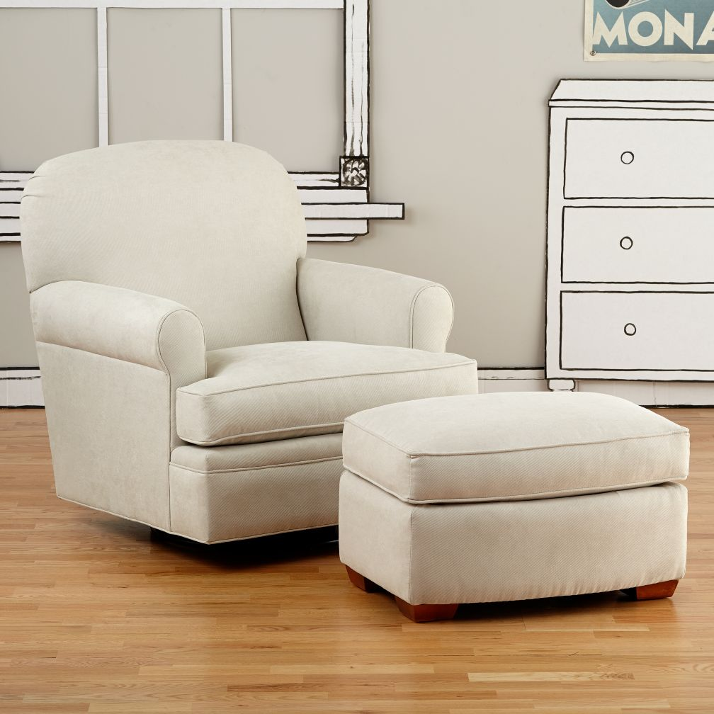 Dylan Swivel Glider &amp; Ottoman (Doss Bone)