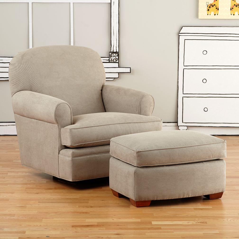 Dylan Swivel Glider &amp; Ottoman (Doss Otter)