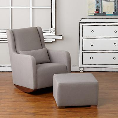 Marley Rocking Chair & Ottoman (Grey)
