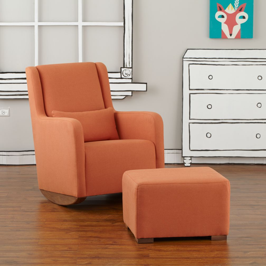 Marley Rocker & Ottoman (Orange)