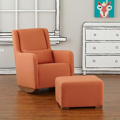 Marley Rocking Chair & Ottoman (Orange)