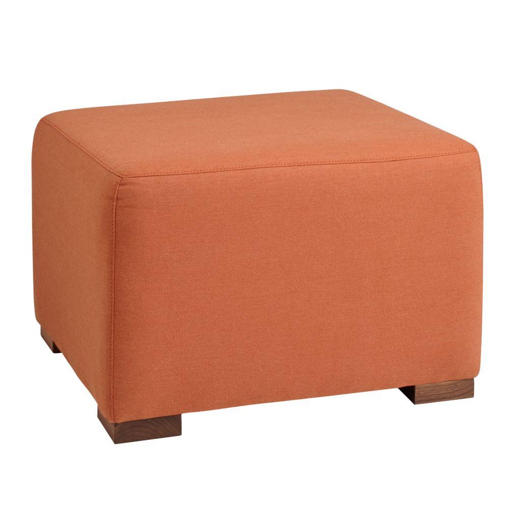 Marley Ottoman (Orange)