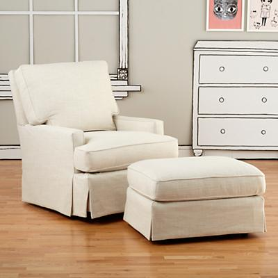 Mod Nod Swivel Glider & Ottoman (Devote Cream)