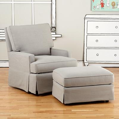 Mod Nod Swivel Glider & Ottoman (Devote Pewter)
