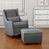 Quincy Rocking Chair & Ottoman (Dee Dee Slate)
