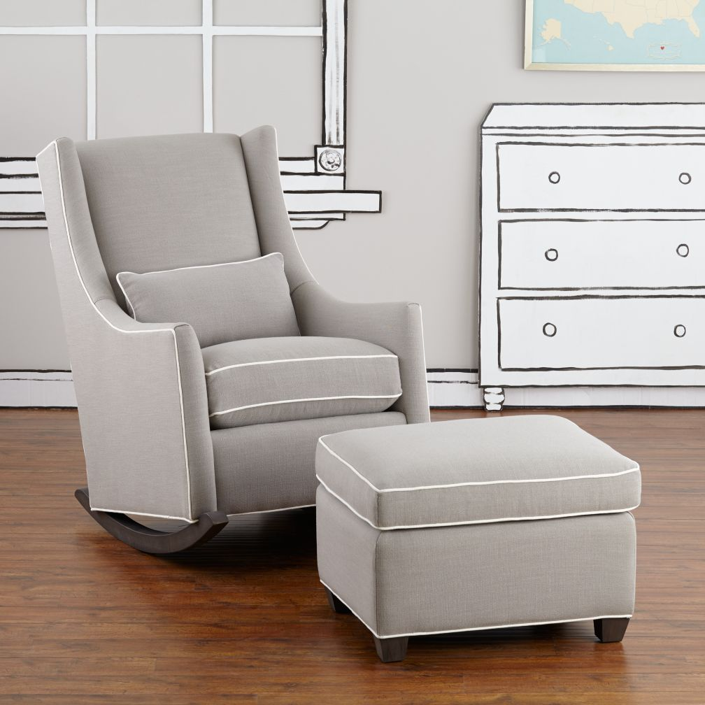 Quincy Rocker & Ottoman (Devote Pewter)