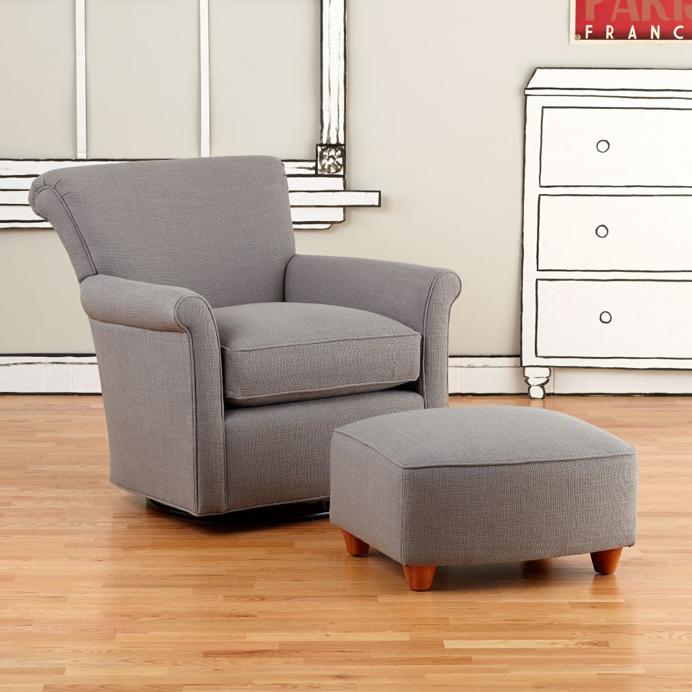 Swivel Glider & Ottoman (Cement)
