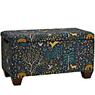 Custom Upholstered Storage Bench with Feet