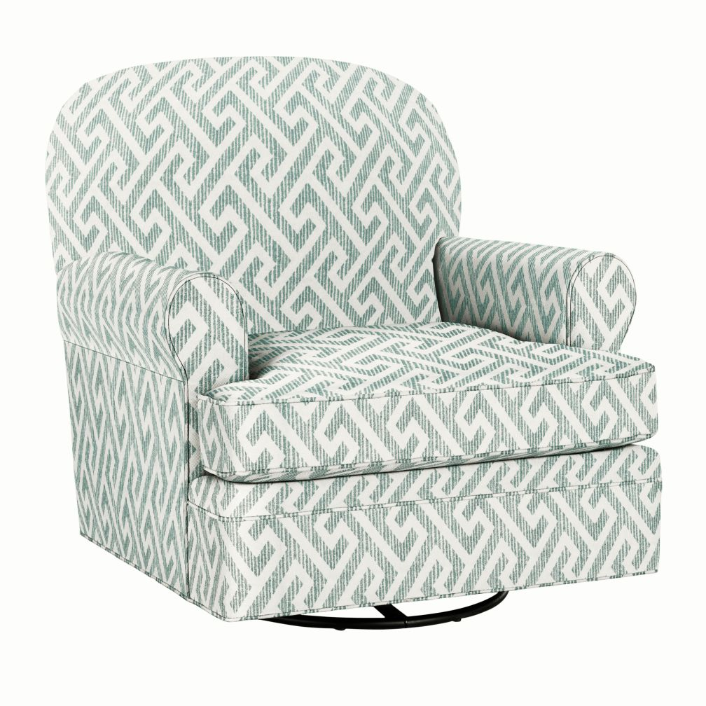 Dylan Swivel Glider &amp; Ottoman (Teal)
