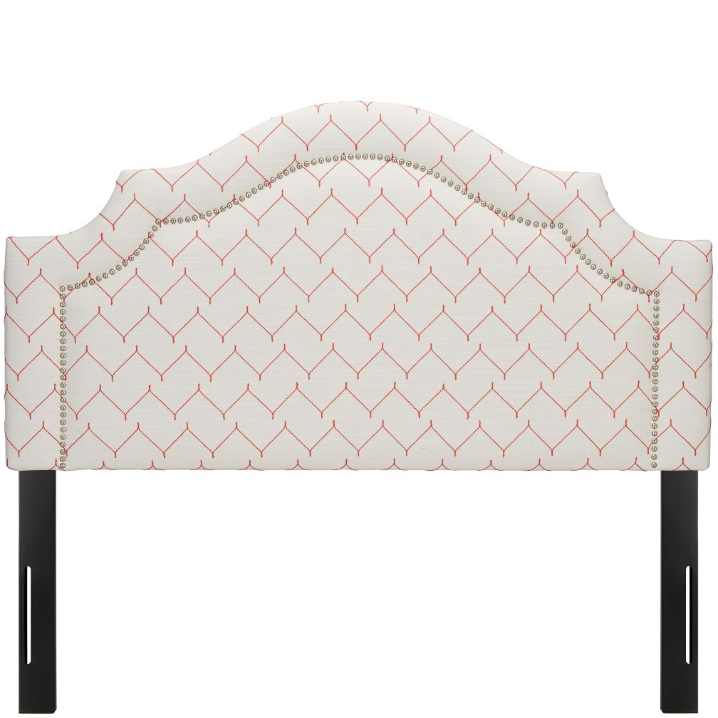 Full As you Wish Upholstered Headboard (Arched w/Nail Heads)