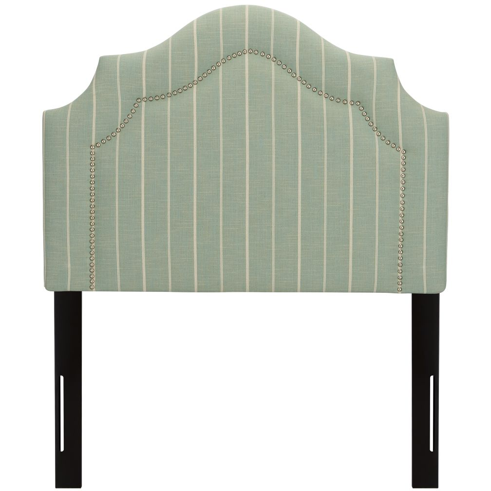 Twin As you Wish Upholstered Headboard (Arched w/Nail Heads)