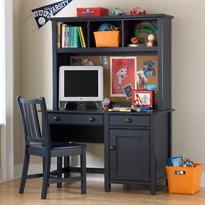 Walden Desk and Hutch (Midnight Blue)