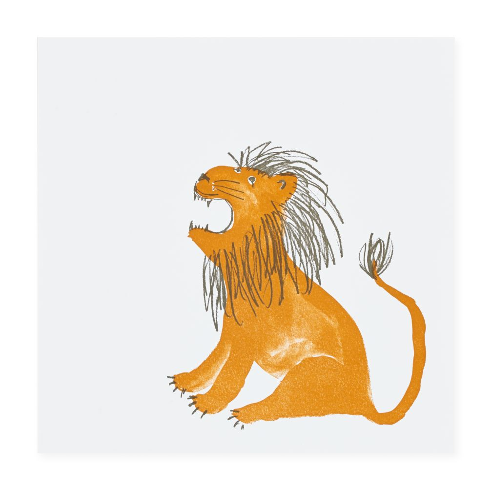 Prints of the Jungle Wall Art (Lion)