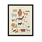 Rifle Paper Framed Animal Alphabet Poster