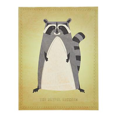 Animal Canvas Wall Art (Artful Raccoon)
