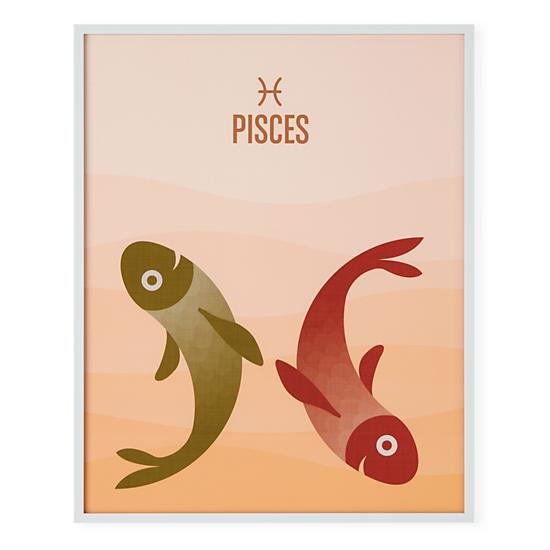What's Your Sign Framed Wall Art (Pisces) in Framed Wall Art | The