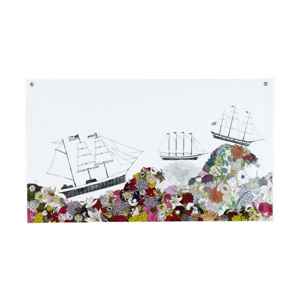 Sail the Ocean Blooms Banner