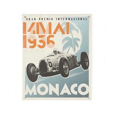 Monaco Racecar Banner