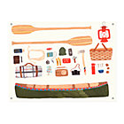 Canoeing Outdoors Canvas Banner