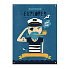 Personalized Captain Canvas Banner