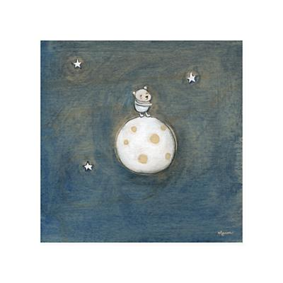 Creative Thursday Canvas Wall Art (Bear on the Moon)