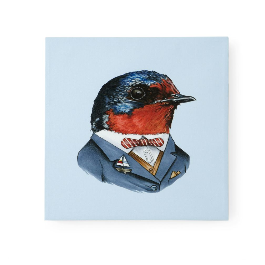 Bird Canvas Head Portrait