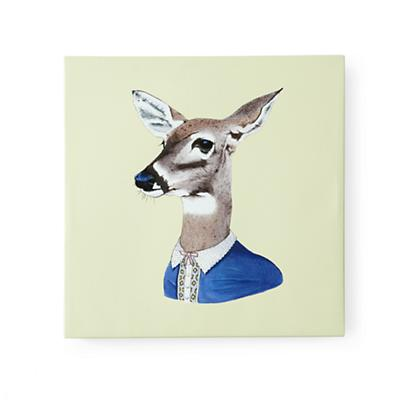 Deer Canvas Head Portrait