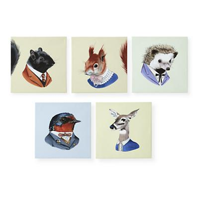 Animal Head Portraits (Set of 5)