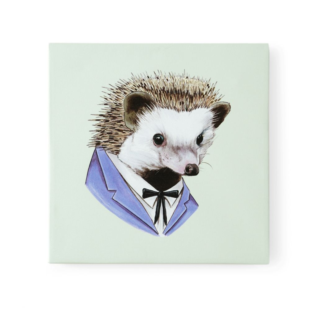 Hedgehog Canvas Head Portrait