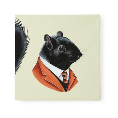 Black Squirrel Head Portrait