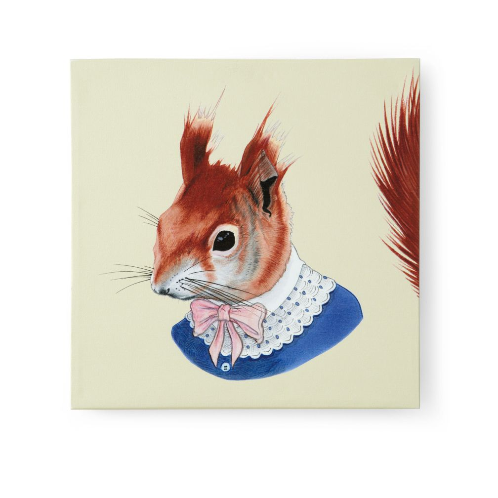 Red Squirrel Canvas Head Portrait