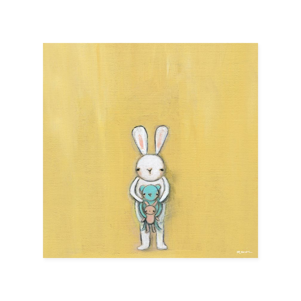 Creative Thursday Canvas Wall Art (Bunny & Friends)