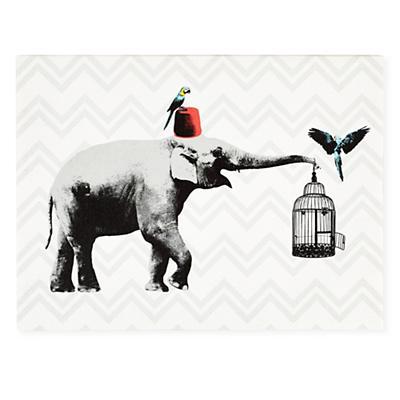 Party Animals Canvas Wall Art (Elephant)