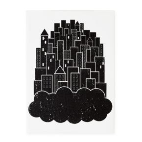 Print Noir Canvas Wall Art (Dream City)