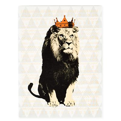Party Animals Canvas Wall Art (Lion)