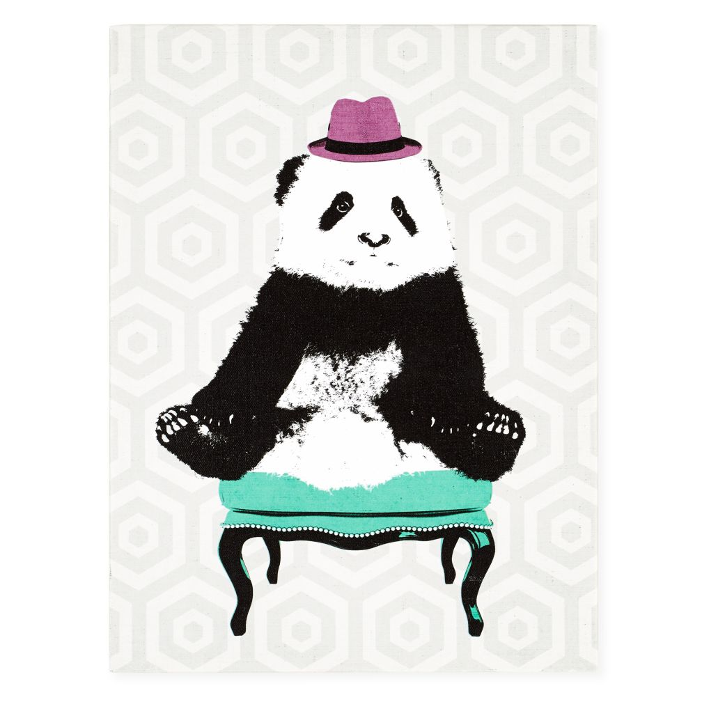 Party Animals Canvas Wall Art (Panda)