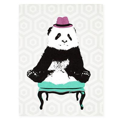 Party Animals Canvas Wall Art (Panda)