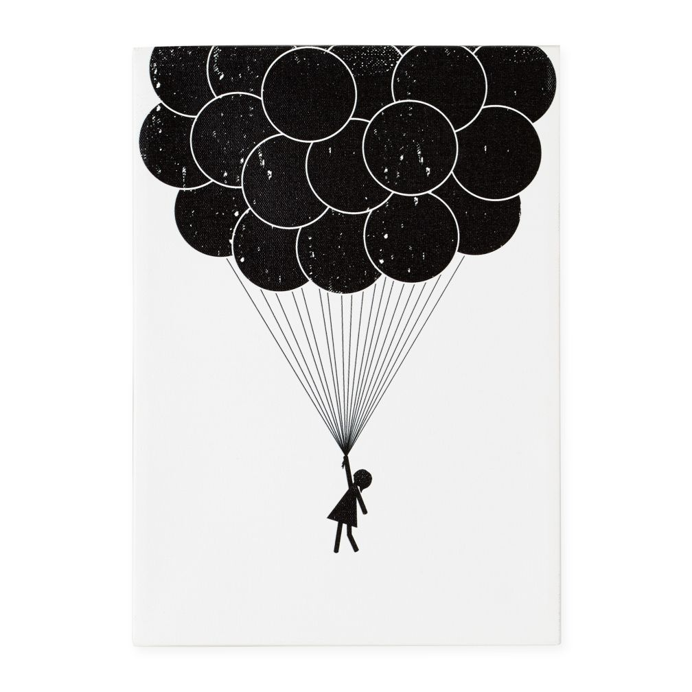 Print Noir Canvas Wall Art (Balloon)