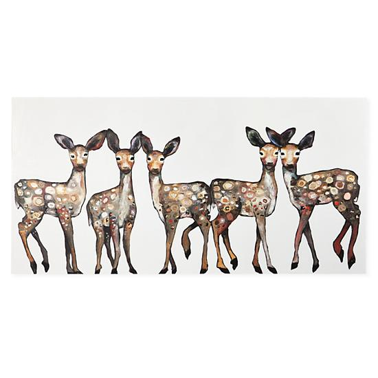 Wall Art Of Deer : Oh deer canvas wall art the land of nod