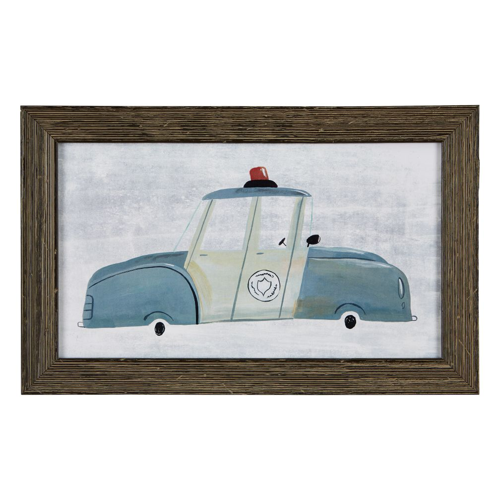 Police Car Framed Wall Art