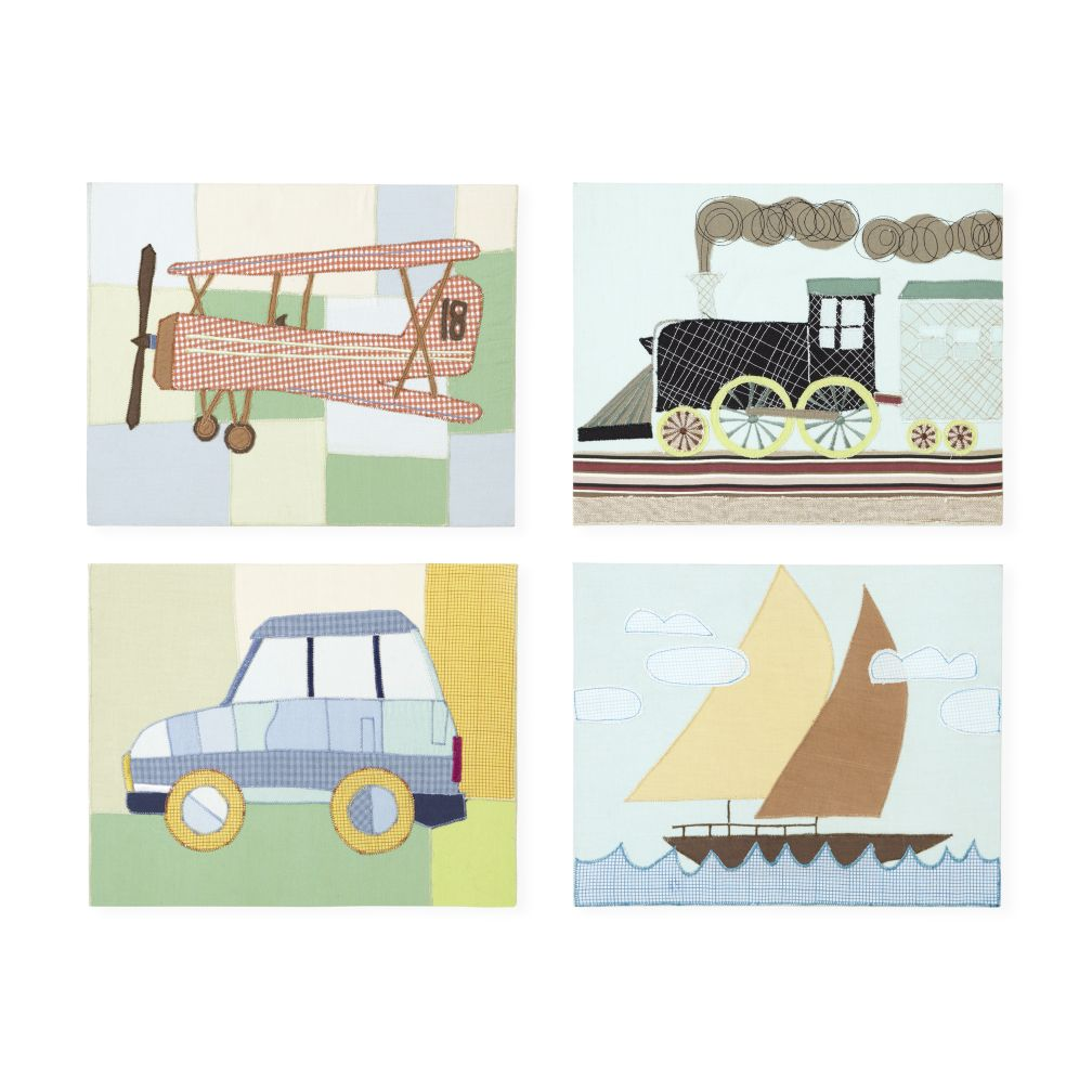 Transportation Sensation Wall Art (Set of 4)