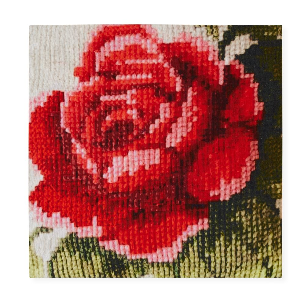 Pink Rose Faux Bloom Wall Art