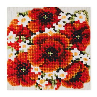 In Faux Bloom Wall Art (Poppies)