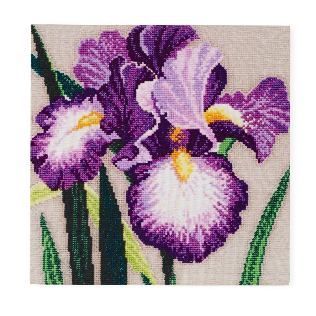 Purple Iris Faux Bloom Wall Art